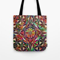 flower of life Tote Bags featuring Flower of Life variation by Klara Acel