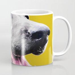 Black dog pop art dog Coffee Mug
