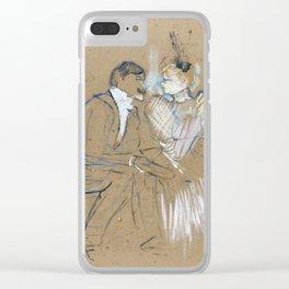 """Henri de Toulouse-Lautrec """"Lucien Guitry et Jeanne Grânier"""" Clear iPhone Case"""