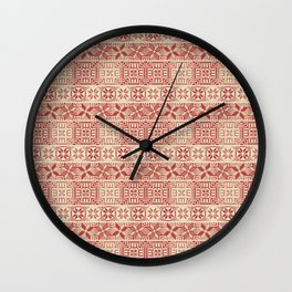 Palestinian embroidery pattern Wall Clock