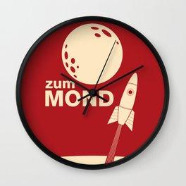 Zum Mond Wall Clock