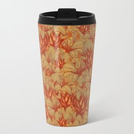 Just Orange Flowers Travel Mug