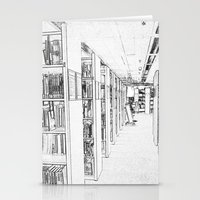 library Stationery Cards featuring Library by Triple-A