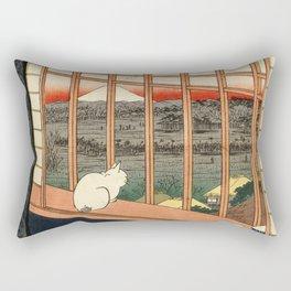 Asakusa ricefields and torinomachi festival Rectangular Pillow