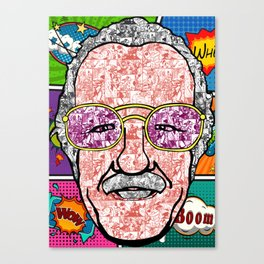 Stan Lee Comic Canvas Print