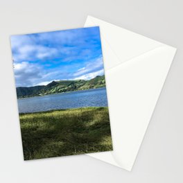 Relaxing by the Lake (in Azores) Stationery Cards