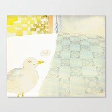 greedy seagull Canvas Print