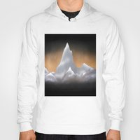 snowboarding Hoodies featuring Snowy Mountains by Bruce Stanfield