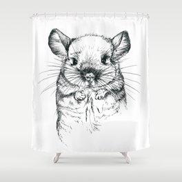 Chinchilla my love Shower Curtain