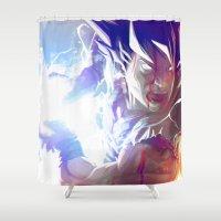 goku Shower Curtains featuring Goku by MATT DEMINO