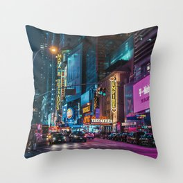 Colorful New York Empire Throw Pillow