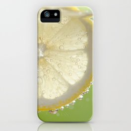 Bubbly Lemon - Lime Green iPhone Case