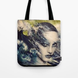 THE STORY OF A LACING WAVE Tote Bag