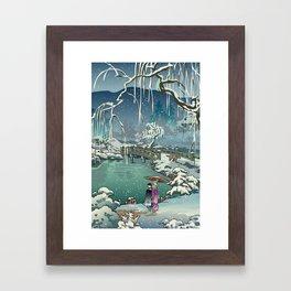 Ukiyo-e: Yuri on Ice Framed Art Print