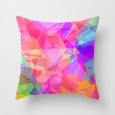 Color Fractal Throw Pillow