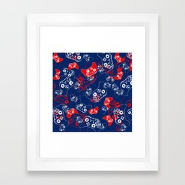 Video Game Red White & Blue 2 Framed Art Print