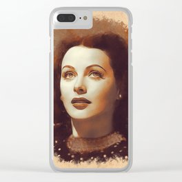 Hedy Lamarr, Hollywood Legend Clear iPhone Case