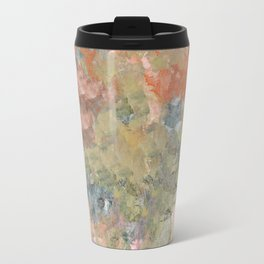 Pastel Garden in Orange and Green Travel Mug