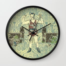 Rustic hero Wall Clock