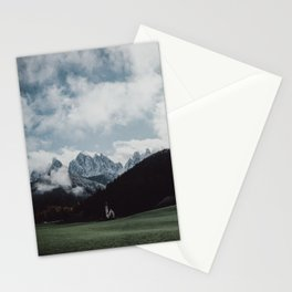 Moody Mountain Church in The Dolomites Stationery Cards