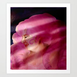 Rose Quartz Impressionist Portriat Art Print