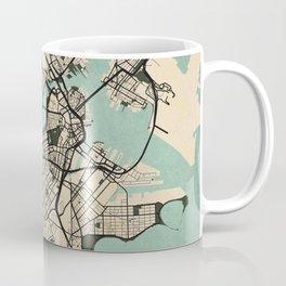 Boston City Map of the United States - Vintage Coffee Mug