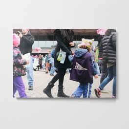 Children at the Women's March Metal Print