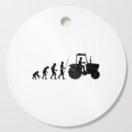 Farmer Evolution Tractor Retro Look Cutting Board