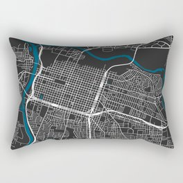 Sacramento city map black colour Rectangular Pillow