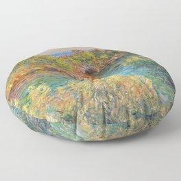 "Claude Monet ""Landscape near Montecarlo"" Floor Pillow"