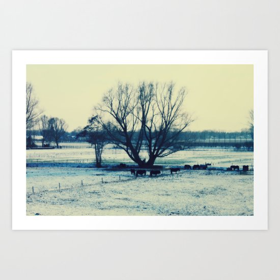 Winter  - JUSTART © Art Print