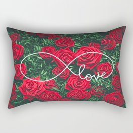 Red Roses Photography & Infinity Love Sign Rectangular Pillow