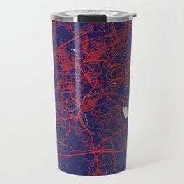 Blackburn, England, Blue, White, City, Map Travel Mug