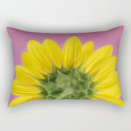 Sunflower on Pink - Botanical Art by Debi Dalio Rectangular Pillow