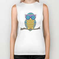 henna Biker Tanks featuring Henna Owl by haleyivers