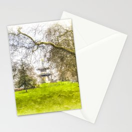 The Pagoda Battersea Park London Art Stationery Cards