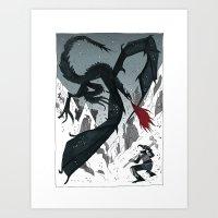 skyrim Art Prints featuring SKYRIM by tarmasz