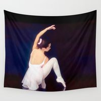 ballerina Wall Tapestries featuring Ballerina by Just Art