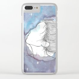 Watching galaxies Clear iPhone Case
