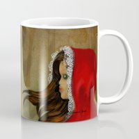 red hood Mugs featuring Red Riding Hood by Alannah Brid