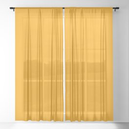 Solid Color Orange Sheer Curtain