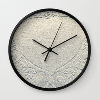 antique Wall Clocks featuring Antique Heart by Rose Etiennette