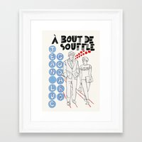 godard Framed Art Prints featuring Breathless - A Bout de Souffle by Matou en Peluche