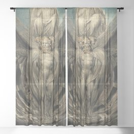 The Whirlwind By William Blake 1803 Sheer Curtain