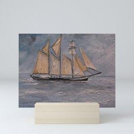 Tall Ship in Boston Mini Art Print