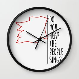 Do You hear The People Sing? - Red Flag? Wall Clock