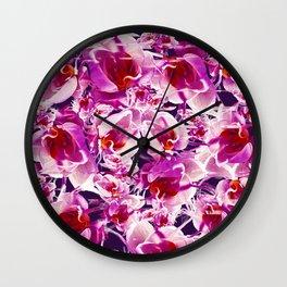 Orchid Chaos Wall Clock