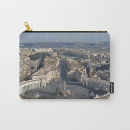 Piazza san pietro with its surroundings and whole rome city view in a sunny day from up Carry-All Pouch