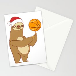 Lazy Sloth Sleepy Nap Merry Christmas December 25 T-Shirt Design Shoot Ring Homecourt Player Team Stationery Cards