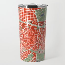 Madrid city map classic Travel Mug